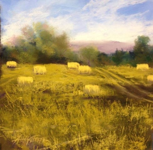 Summer Fields, original pastel painting by Wenaha Gallery artist Bonnie Griffith