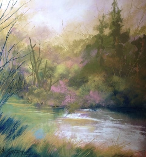 Symphony in Green, original pastel painting by Wenaha Gallery artist Bonnie Griffith