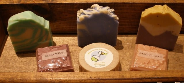 The unique shape, colors, and scent combinations of Walla Walla Soap Works soap is testament to the artisan flair of its creators, Jesse and Scooter Johnston