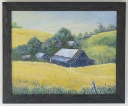Barn with Wheat - Vivian McCauley