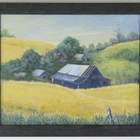 Barn with Wheat - Vivian McCauley