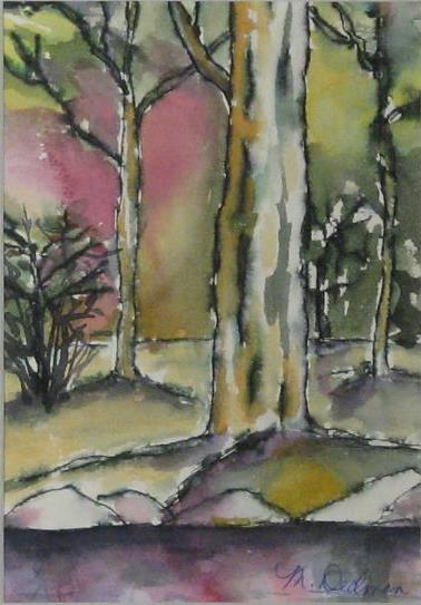 Heart of the Woods, original watercolor by Meredith Dedman