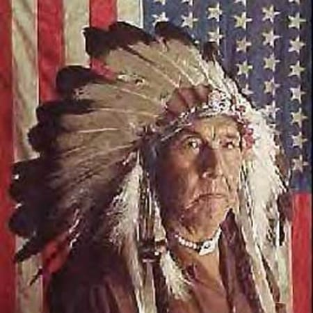 Chester Medicine Crow His Father's Flag