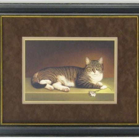 Miss Kitty Framed