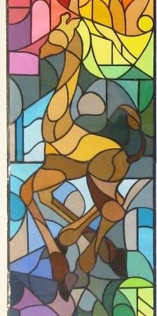Stained Glass - Giraffe - Cheri McGee