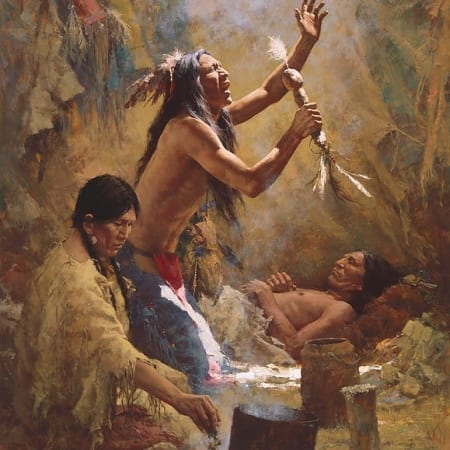 Medicine Man of the Cheyenne - Howard Terpning