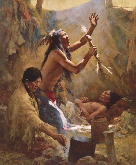 Medicine Man of the Cheyenne - Howard Terpning