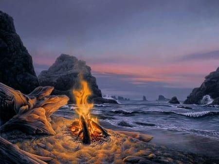 Beach Bonfire - Stephen Lyman
