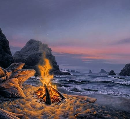 Beach Bonfire - Stephen Lyman