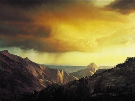Storm Over Tenaya Canyon - Stephen Lyman