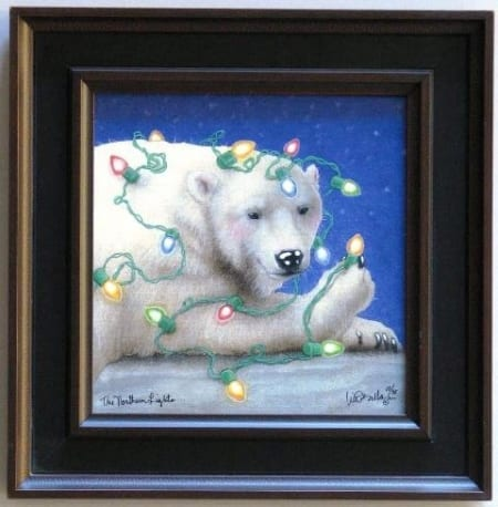 Northern Lights Framed Canvas