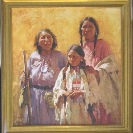 Three Generations (framed) - Howard Terpning