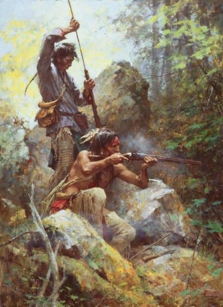 White Man Fire Sticks - Howard Terpning