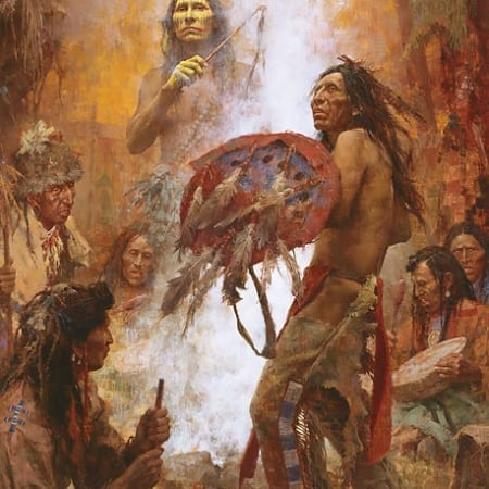 Transferring the Medicine Shield - Howard Terpning