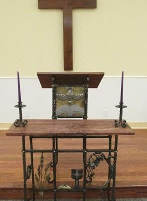 An altar design and pulpit by Ben Czyhold