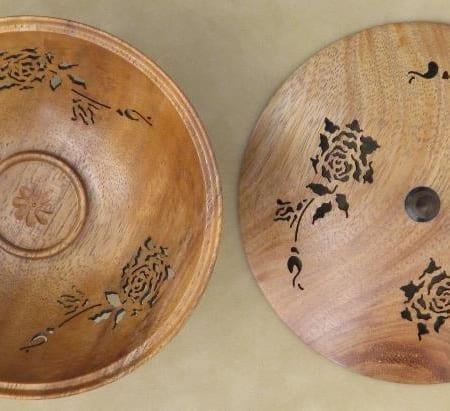 Hand pierced KOA bowl