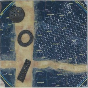 Celestial Dream ceramic wall art by Richland, WA artist Rose Quirk