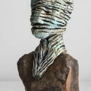 Green Head on Rock, sculpture by Penny Michel, guest artist at Wenaha Gallery
