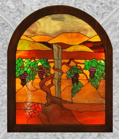 Glass Window Art by Wenaha Gallery guest artist, Alice Beckstrom of Richland, WA