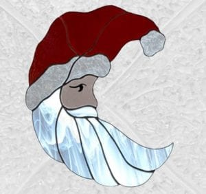 Santa in Glass by Alice Beckstrom