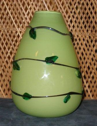 Green Vine Vase
