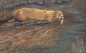 "The Otterstein painting which wildlife artist Terry Isaac calls ""a Masterpiece."""