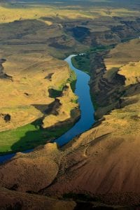 Canyon Gold, aerial photography by Kennewick artist David Wyatt