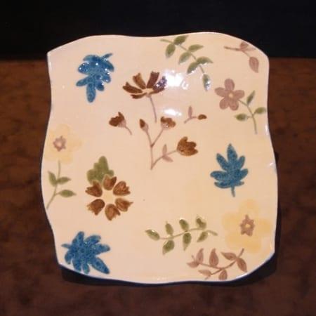 Whimsical Garden Square Platter