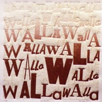 Walla Walla Lettertype print by Anne Haley, guest artist at Wenaha Gallery