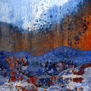 mountain river pass abstract scrapyard photograph LuAnn Ostergaard