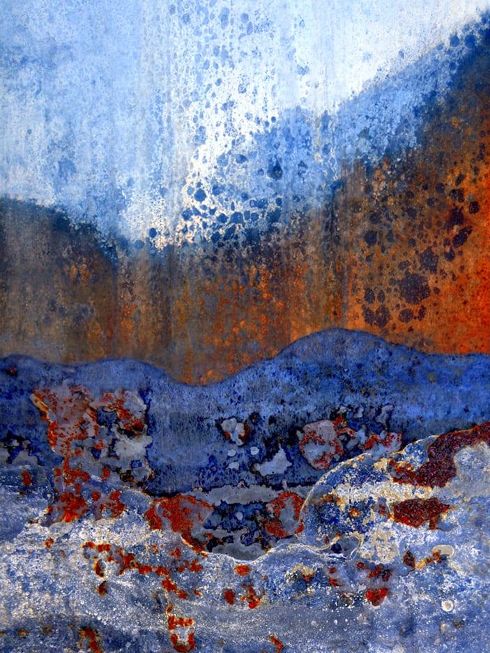 mountain river pass abstract scrapyard photograph LuAnn Ostergaard