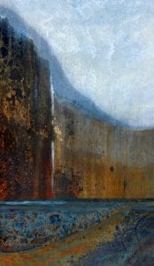 abstract photograph multnomah falls landscape LuAnn Ostergaard scrapyard
