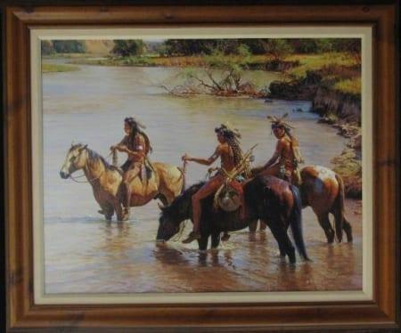 Offering to the River Spirit-framed