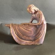 sculpture woman seated skirt pink shelia coe