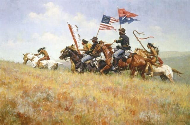 Flags on the Frontier - Howard Terpning, Museum