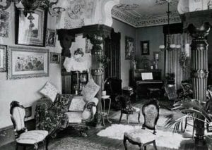 Victorian home interior 1885 trendy fashion