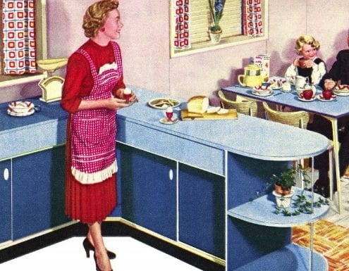 1950s home in formica ad