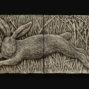 rabbit garden pottery ceramic tile wilburton