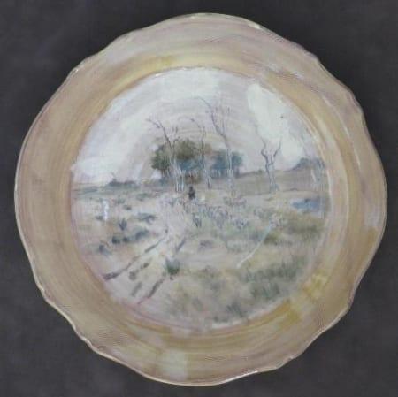 Round Scalloped Platter