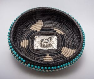 basket weaving native american blue beads northcott