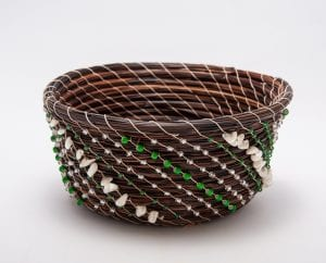 deep woven basket beads and shells native american northcott