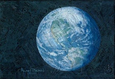 Beautiful Planet Revolving Around Three