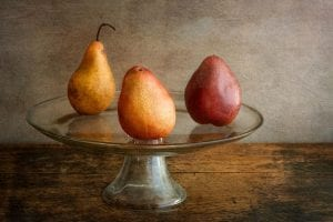 three pears fine art photography still life barb thrall