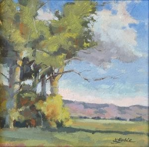 plein air magical landscape tree field meadow oil painting laura gable