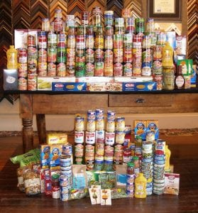 Canned food community drive wenaha gallery