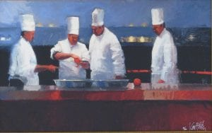 art of peel chef painting ken auster