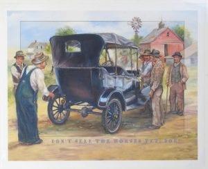 horse buggy nostalgic history vintage painting nona hengen