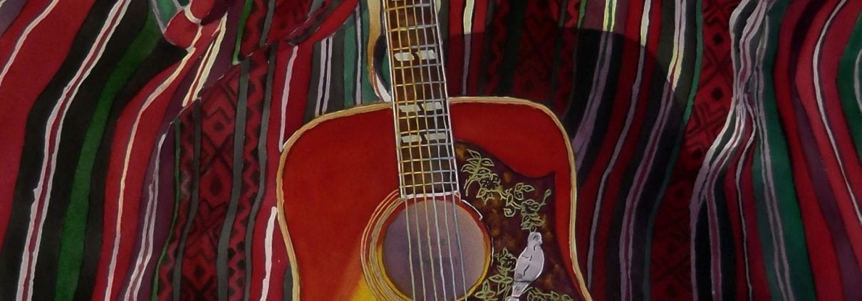 dove guitar pal obsession roy anderson watercolor painter musician