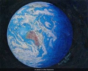 jewel heavens earth blue planet alan bean painting skylab apollo