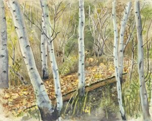 leafy bridge country rural forest woods simple living ellen heath watercolor